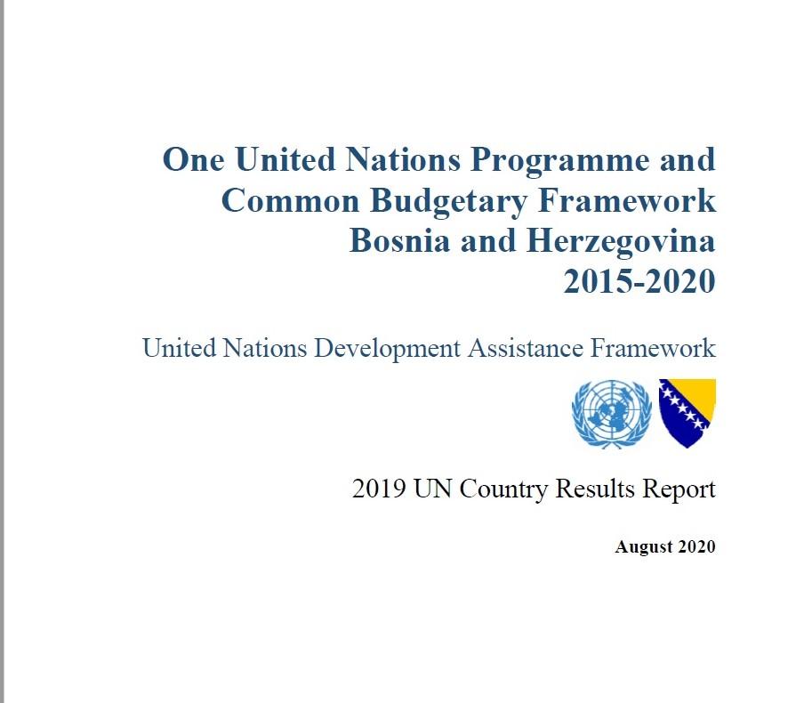 Izvještaj o rezultatima UN-a za 2019. godinu prema UNDAF-u (2015-2020.)  za BiH